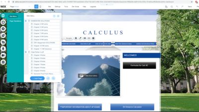 Ready to use Calculus Class Website
