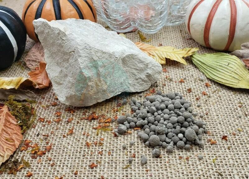 Pelletized limestone