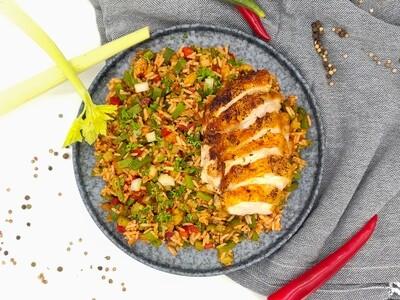 Cajun Reis   Hühnchen