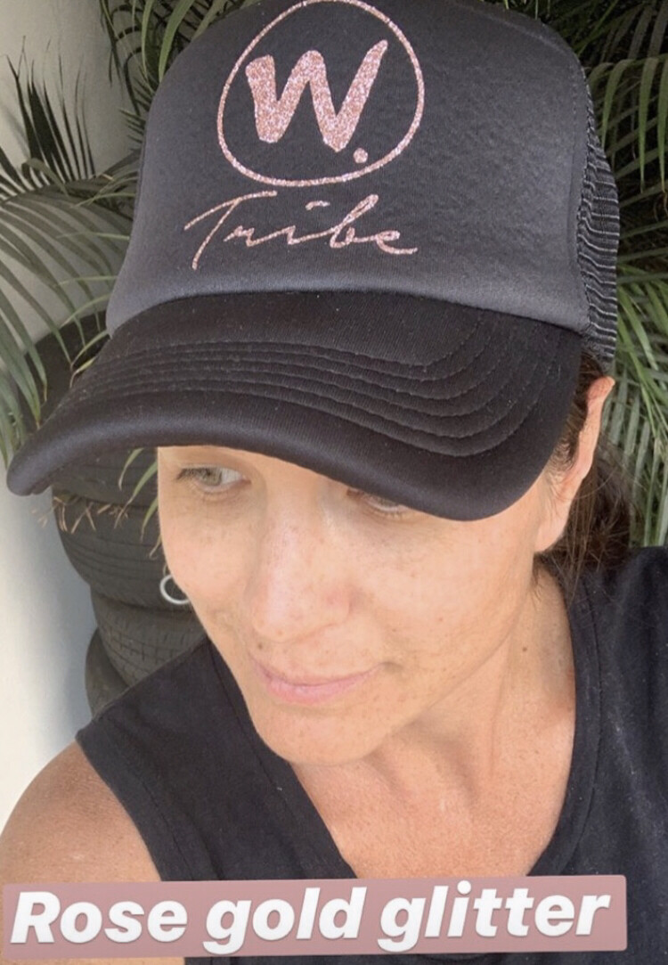 Rose Gold Glitter w tribe Hat CLEARANCE