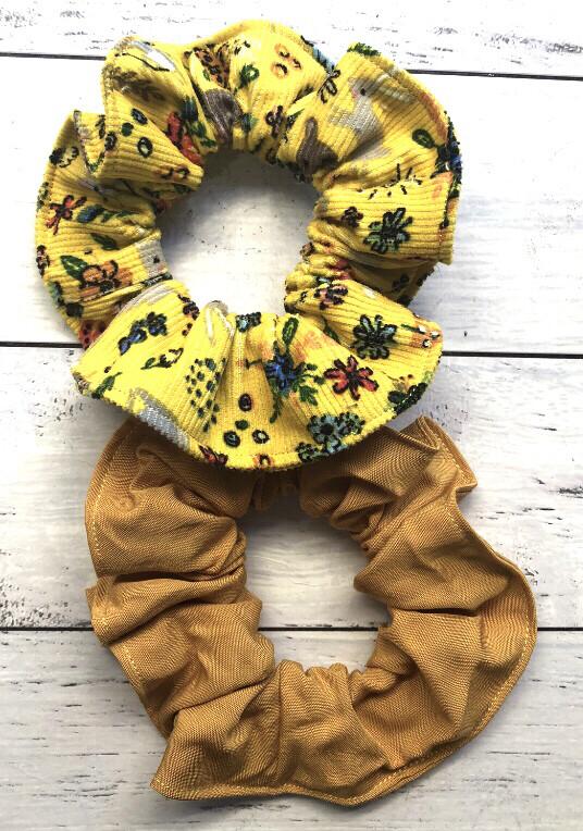 Yellow And Mustard Scrunchie bundle