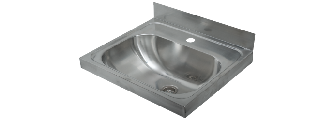 Uptown S/S Commercial Wall Basin 500x420x170mm - SSWB