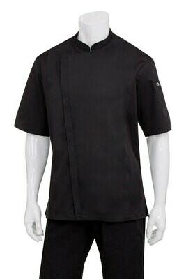 Chefworks Cannes Press Stud Black Chef Jacket