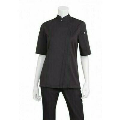 Chefworks Springfield Womens Black Zipper Chef Jacket