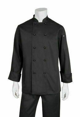Chefworks Darling Black Chef Jacket