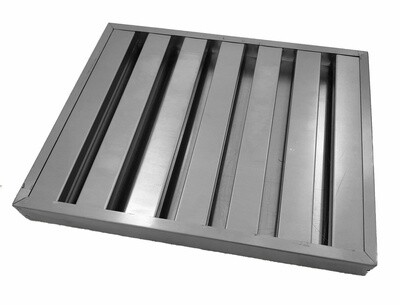Stainless Steel Baffle Filter - 495mm x 495mm x 45mm