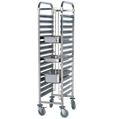 ICE 15 Tier S/S Trolley Square Tube - TRS0015