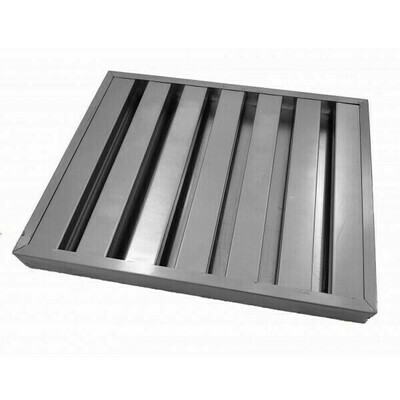 Stainless Steel Baffle Filter - 395mm X 495mm X 45mm