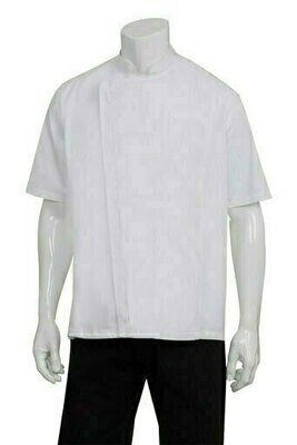 Chefworks Cannes Press Stud White Chef Jacket