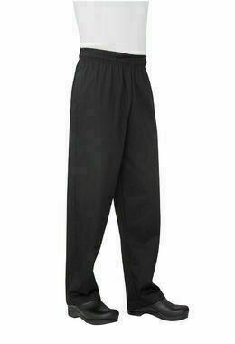 Chefworks Black Baggy Chef Pants