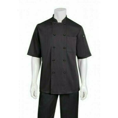 Chefworks Canberra Black Basic Chef Jacket