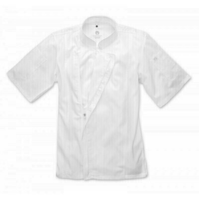 Chefworks Springfield Mens White Zipper Chef Jacket