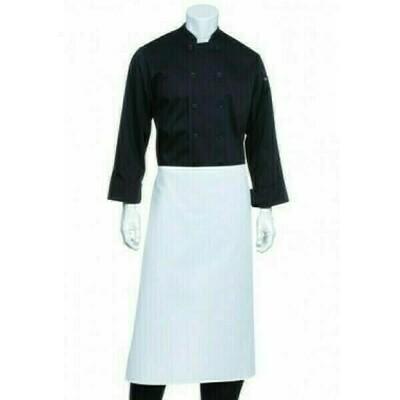 Chefworks White 3/4 Bar Apron