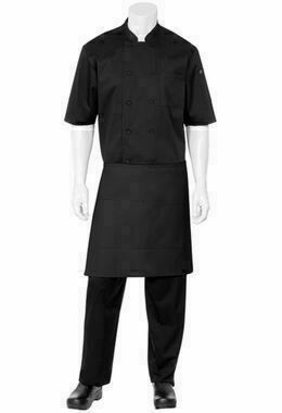 Chefworks Half Black Apron