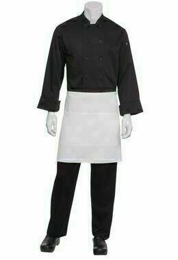 Chefworks Half White Apron