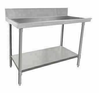 Stainless Steel Dishwasher Bench Outlet 600W x 600D x 900H