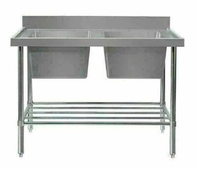 Double Sink Bench - W2100 x D600 x H900