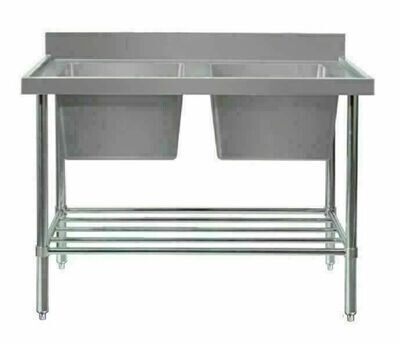 Double Sink Bench - W1200 x D600 x H900