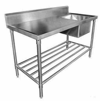 Sink Bench with Splashback - W1500 x D600 x H900