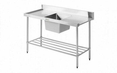 Simply Stainless SS08.1200.L - Dishwasher Inlet Bench