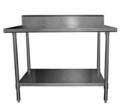 Work Bench with Splashback W2400 x D600 x H900