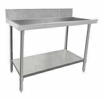 Stainless Steel Dishwasher Bench Outlet 600W x 700D x 900H