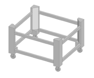 Italforni Tunnel Stone Conveyor Oven  Stand To Suit TSB