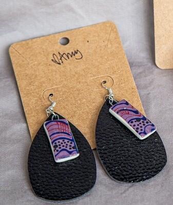 Black Drop Earrings