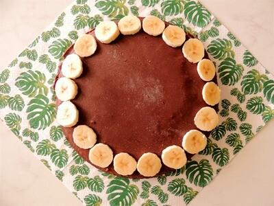 Chocolade banaantaart- (2-4pers)