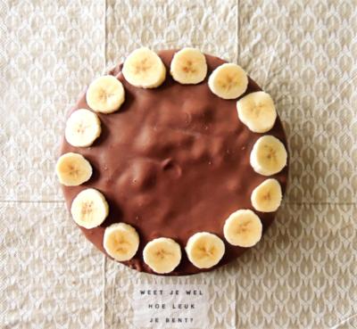 Chocolade banaantaart-  (8-10pers)