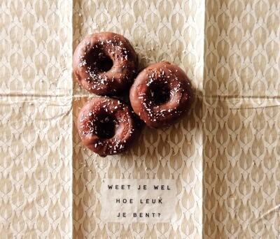 Mini chocolade donuts (7stuks)
