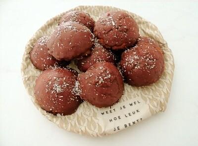 Kokosrotsjes met chocolade (10stuks)