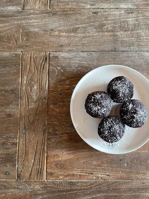 Chocolade/amandel muffins - 4stuks Limited edition