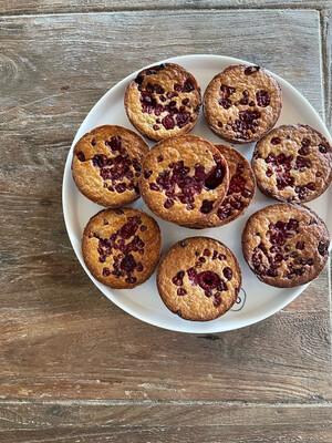 Haver/framboos Muffins 10stuks