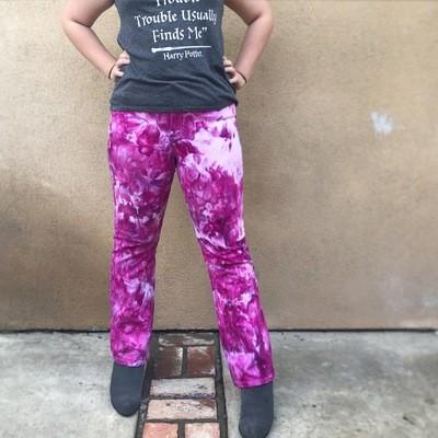 Ultraviolet icedye jeans