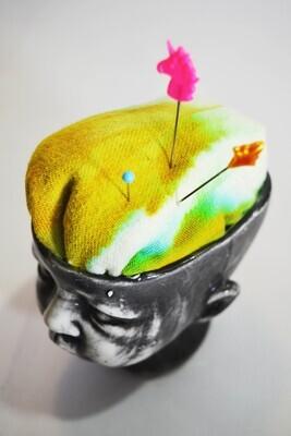 Ceramic Babydoll Head Pincushion