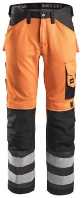Snickers 3333 Broek High Visibility (Klasse 2)