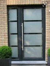 Door front aluminium designer with sidelight 1500 x 2100