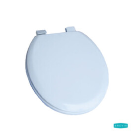 Toilet seat cover MDF wood white