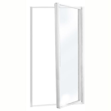 Shower pivot door white