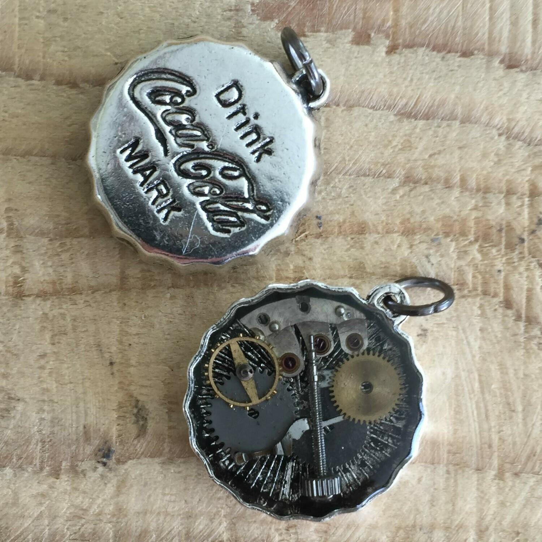 Steampunk Cola Bottle Cap Pendant Necklace