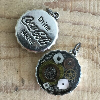 Steampunk Cola Bottle Cap Pendant Necklace
