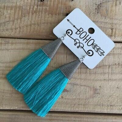 BOHO Tassel Earrings - Turquoise