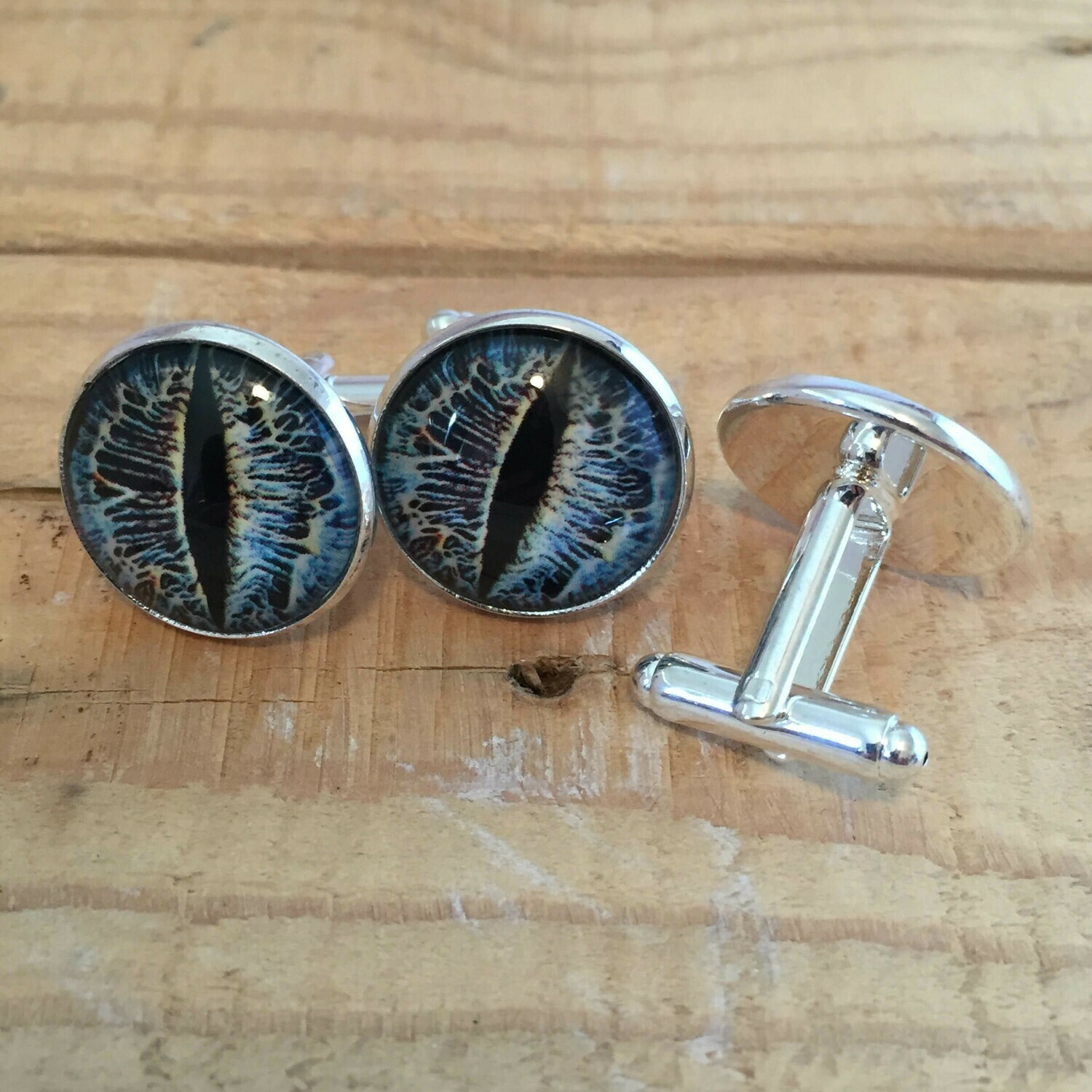 Creature Eye 18mm Cuff Links - Blue 2