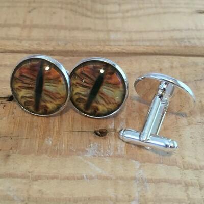 Creature Eye 18mm Cuff Links - Brown