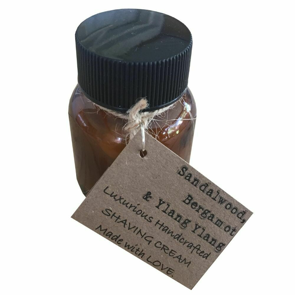 Sandalwood, Bergamot & Ylang Ylang - Handcrafted Vegan Shaving Cream