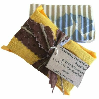 Charcoal, Turmeric, Paprika & Frankincense - Handcrafted Vegan Soap