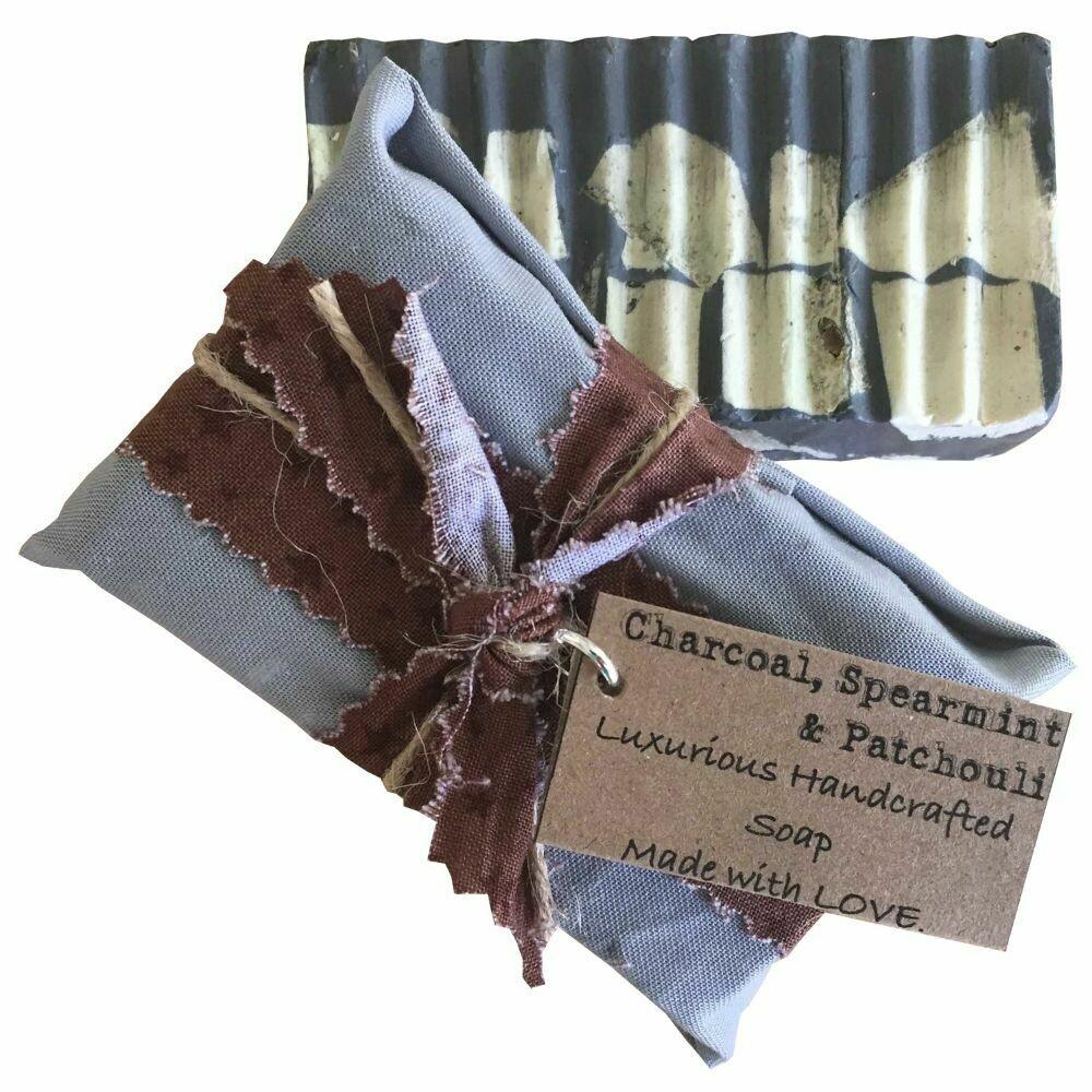 Charcoal, Spearmint & Patchouli - Handcrafted Vegan Soap