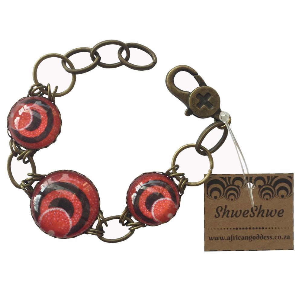 Round Bracelet - Red ShweShwe