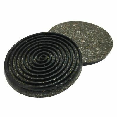 Orgonite Spiral Coaster - Black Tourmaline